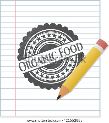 Organic Food pencil effect