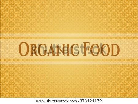 Organic Food retro style card, banner or poster