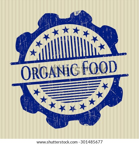 Organic Food rubber grunge stamp