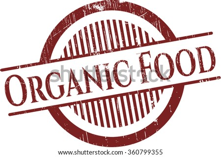 Organic Food rubber grunge texture seal