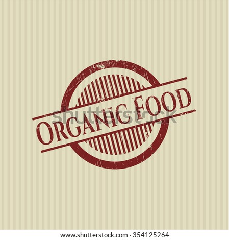 Organic Food rubber grunge texture stamp