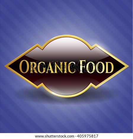 Organic Food shiny emblem