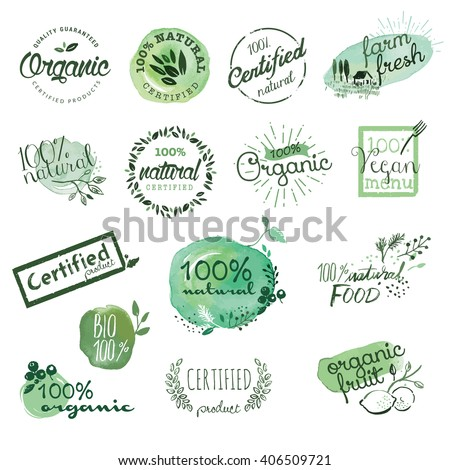 organic food stickers and