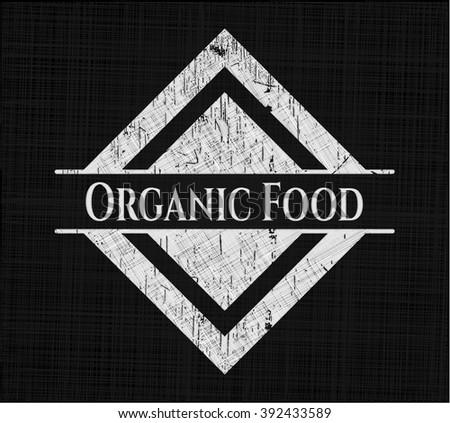 Organic Food with chalkboard texture