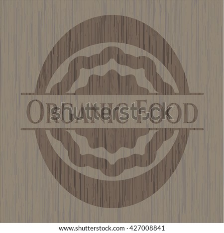 Organic Food wood icon or emblem