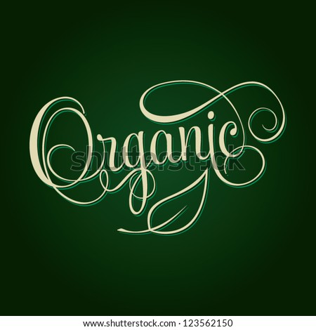 Organic Hand Lettering Handmade Calligraphy Shopping