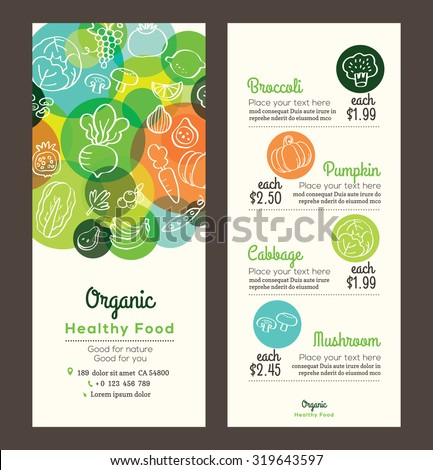 organic healthy food with