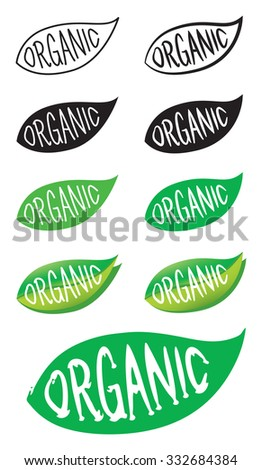 Organic icon set, Ecology, Organic food and drink elements,