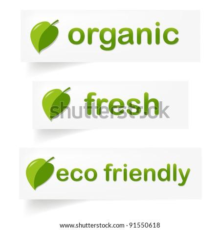 Organic Label, Vector Illustration