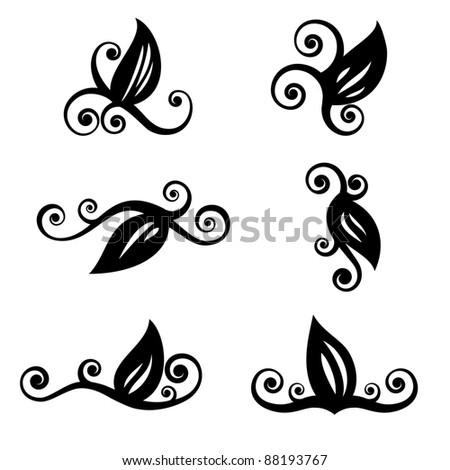 Gallery For gt Black And White Leaf Design