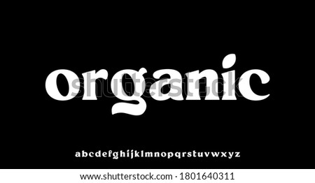 organic lowercase font perfect for branding or word mark design