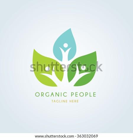 Organic people logo template