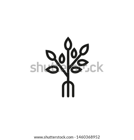 Organic product line icon. Nature, food, plant. Organics concept. Vector illustration can be used for topics like environment, ecology, food