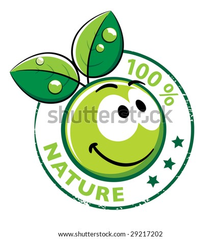 Organic Smiley With green leaves