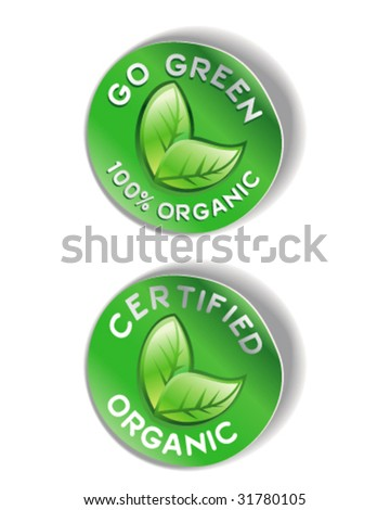 Organic Sticker Graphic - Vector Illustration - stock vector