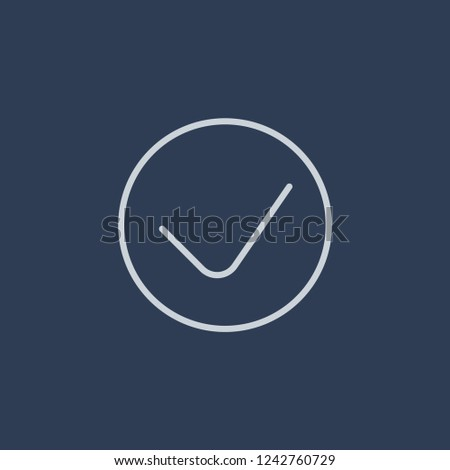 Organisation for Economic Cooperation and Development icon. Trendy flat vector line Organisation for Economic Cooperation and Development icon on dark blue background from business   collection.