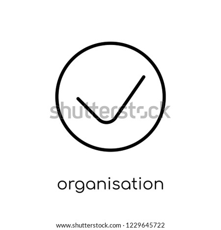 organisation for economic cooperation and development icon. Trendy modern flat linear vector organisation for economic cooperation and development icon on white background from thin line business