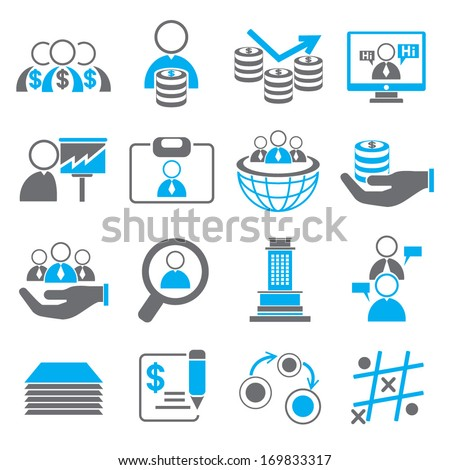 organization and human resource management icons, business icons