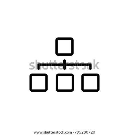 organization chart icon vector Stock photo ©