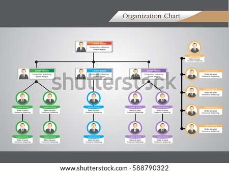 Colorful Organization Chart Download Free Vector Art – Organization Chart