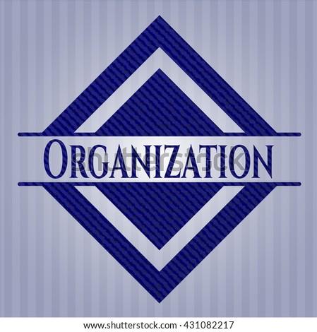 Organization emblem with jean high quality background