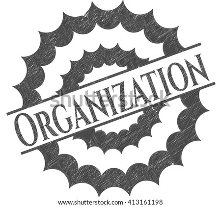 Organization emblem with pencil effect