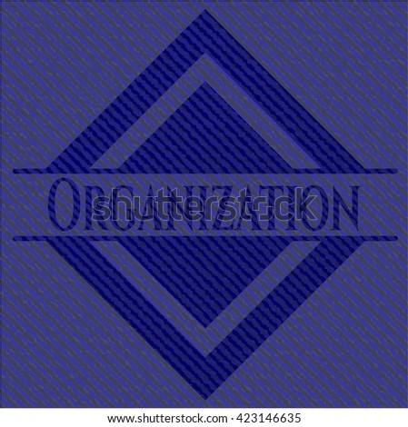 Organization jean or denim emblem or badge background