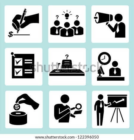 organization, office people set - stock vector