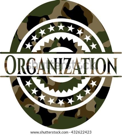 Organization on camo pattern