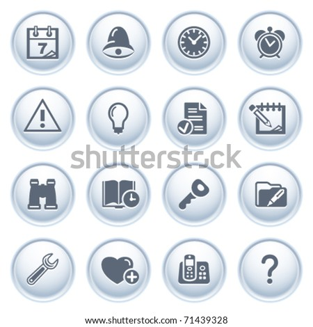 Organizer web icons on buttons.