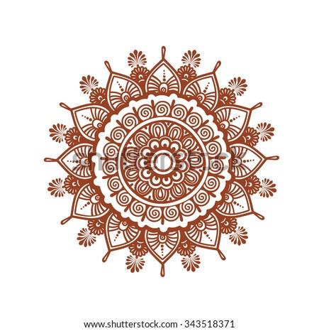 Orient Circle Mandala  Decorative Ornamental Henna Design