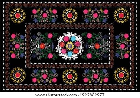 Orient pattern carpet - suzani