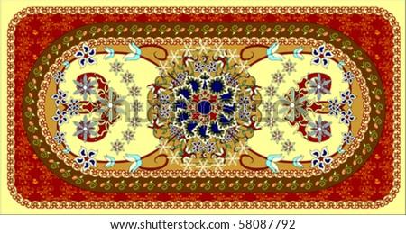 Oriental carpet, vector