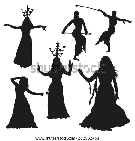 oriental dance silhouettes