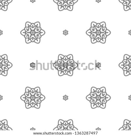 oriental floral fabric pattern