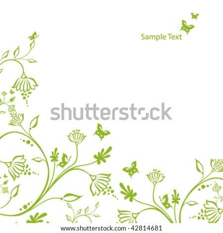 Oriental flower design card - stock vectorOriental Flower Design