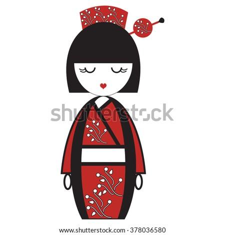 oriental japanese geisha  doll