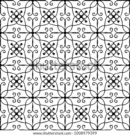 ORIENTAL PATTERN, Editable and repeatable vector illustration file.