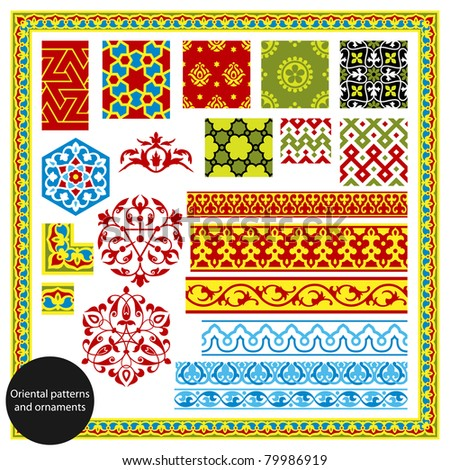 Oriental patterns and ornaments. Vector illustration.