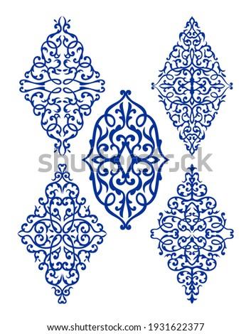 oriental rhombus ornaments