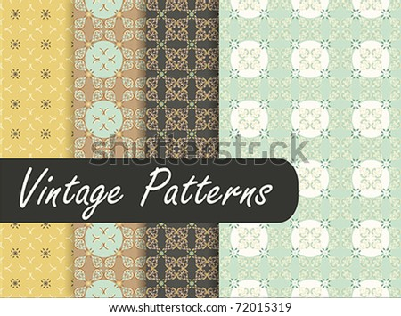Oriental Vintage Patterns - stock vector