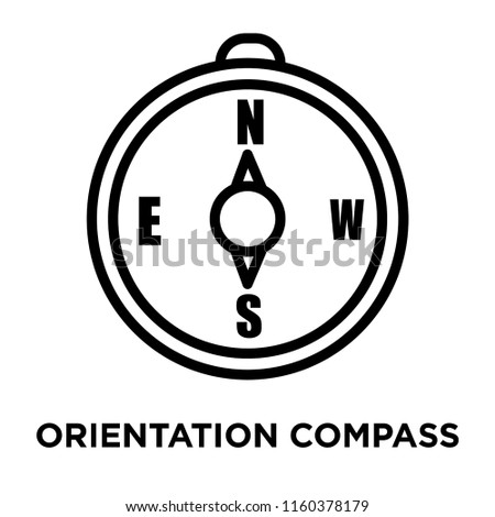 Orientation Compass icon vector isolated on white background, Orientation Compass transparent sign , linear symbol and stroke design elements in outline style