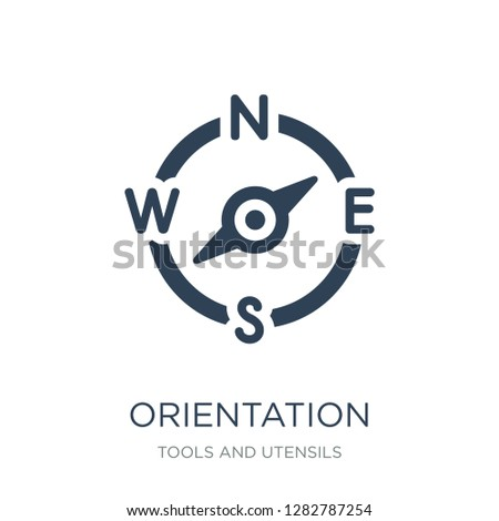 orientation compass icon vector on white background, orientation compass trendy filled icons from Tools and utensils collection, orientation compass vector illustration