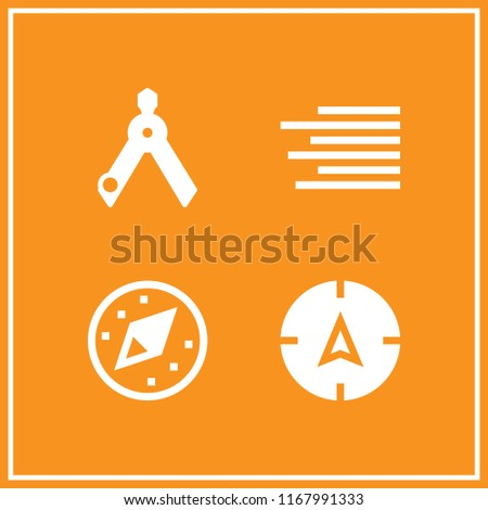 orientation icon. 4 orientation vector set. compass and align right icons for web and design about orientation theme