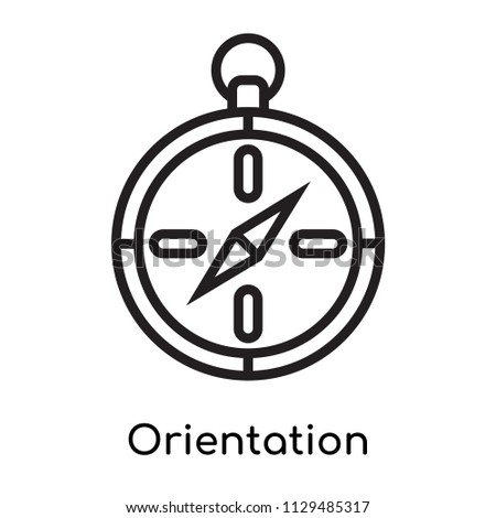 Orientation icon vector isolated on white background for your web and mobile app design, Orientation logo concept