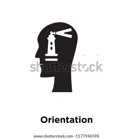 Orientation icon vector isolated on white background, logo concept of Orientation sign on transparent background, filled black symbol