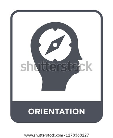 orientation icon vector on white background, orientation trendy filled icons from Brain process collection, orientation vector illustration