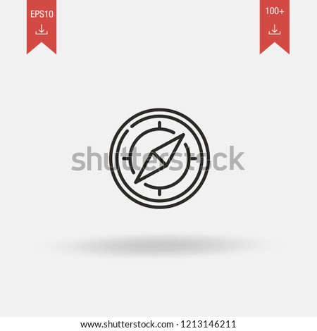 Orientation linear vector icon. Orientation concept stroke symbol design. Thin graphic elements vector illustration, outline pattern on a white background, EPS 10.