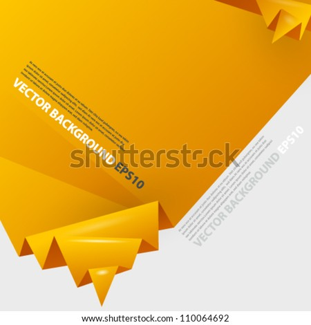 Origami abstract background with place for text. Image contains transparent lights and shadows. 10 EPS