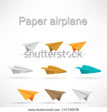 origami airplane set